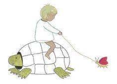 """Stickmotiv """"Schildkrötenreiter"""""""