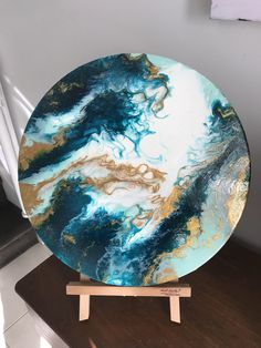 A personal favourite from my Etsy shop https://www.etsy.com/au/listing/553660794/a-40-cm-fluid-acrylic-round-painting