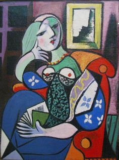 Woman with Book by Pablo Picasso