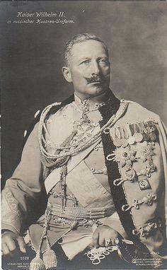 Kaiser Wilhelm II in Russian hussar uniform, um 1913.