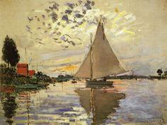 Sailboat at Le Petit Gennevilliers, 1874 Claude Monet