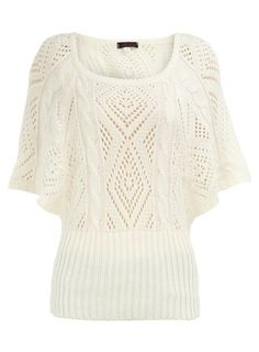 Cream batwing knitted jumper