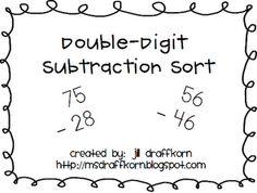 double digit subtraction sort