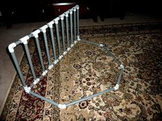 pvc bed rail. Sew a slip to cover it.