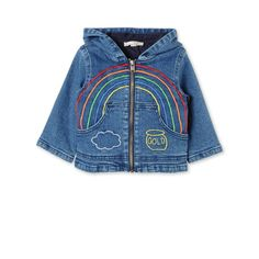 Rainbow Embroidered Bubba Denim Jacket - STELLA MCCARTNEY KIDS