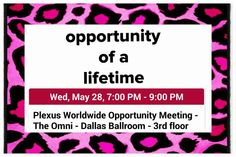 Interested or curious about Plexus?  There is not a better opportunity than this to hear all about it!  This is a FREE event by Plexus Worldwide. Anyone can attend. Go hear firsthand, see the products and ask questions!  I will be glad to talk with you on Thursday after you hear all about our wonderful company!  #plexusfreedom #plexusopportunity #joinmyteam  www.plexusslim.com/robinmccartney  Ambassador #207217