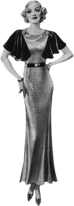 1930`s fashion illustration