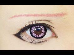yuno gasai make up Anime Eye Makeup, Anime Cosplay Makeup, Doll Makeup, Costume Makeup, Cosplay Contacts, Manga Eyes, Anime Eyes, Cosplay Tutorial, Cosplay Diy