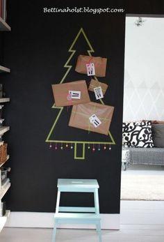 Sapin de Noël / masking tape  Christmas tree / masking tape
