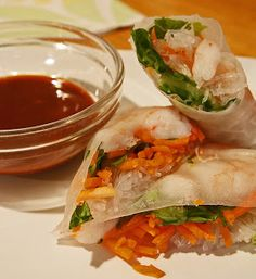 Young and Entertaining: Shrimp Spring Rolls
