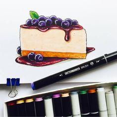 Фуд-скетчинг или фуд-иллюстрация (food sketching, food illustration) сейчас очень популярные направления рисования, а рисование тортиков,…
