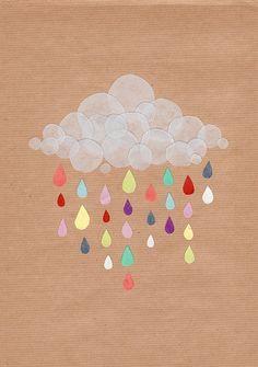 piovono colori sul cielo.