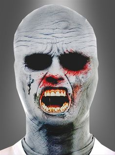 Morph Mask Zombie - This zombie mask is perfect for that instant scare. This mask is made from a stretchy spandex that has a zipper in the back of the neck. You can see through the mask, and drink through it, but be careful, you can't eat brains. This mask is great for Zombie Walks, Makes an easy Halloween Costume, pranks and for fun. #yyc #costume #zombie #mask
