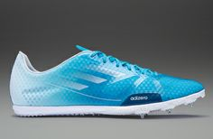 adidas Adizero Ambition - Mens Running Shoes - Solar Blue-Tribe Blue-Running White - MD - Middle Distance Spike