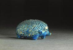 Egyptian Blue Porcelain Hedgehog c1800BCE - Egyptian Museum - Berlin