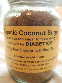 Makers of coconut sugar claim that it has a low glycemic index and is high in potassium and some other minerals. Would using coconut sugar make my cookies Diabetic Recipes, Low Carb Recipes, Healthy Recipes, Diabetic Deserts, Diabetic Snacks, Flour Recipes, Healthy Breakfasts, Healthy Meals, Low Glycemic Diet