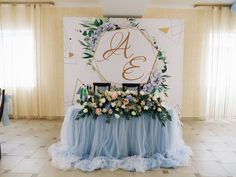 Wedding Stage Backdrop, Wedding Reception, Spring Wedding, Wedding Blue, Wedding Decorations, Table Decorations, American Wedding, Sweetheart Table, Marry Me