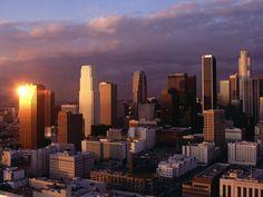 Los Angeles Skyline Wallpaper - http://wallpaperzoo.com/los-angeles-skyline-wallpaper-42102.html  #LosAngelesSkyline