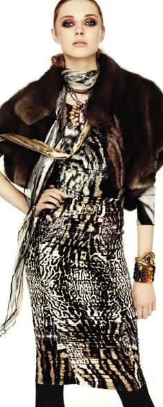 Fashion Changes, Style Remains | Roberto Cavalli Animalistic Style Inspiration Apparel Clothing Design #UNIQUE_WOMENS_FASHION