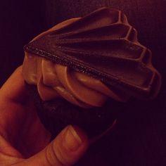 Chocolate cupcake from J. Edwards in #kokomo, #indiana. Photo by @kmdenta.