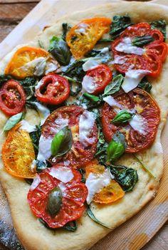 Garden Tomato Pizza   # Pinterest++ for iPad #