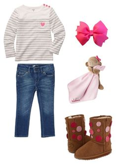 """Snuggle Fall Days"" by my-creative-mess ❤ liked on Polyvore featuring Carter's, EMU Australia and Levi's"