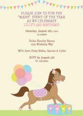 pony party invite