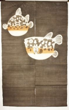 Blowfish linen noren-Ginza Online