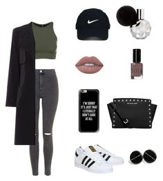 """""""SOZ"""" by liahnessloveslauryynhill ❤ liked on Polyvore featuring Topshop, Onzie, adidas, Michael Kors, Nike Golf, Casetify, Bobbi Brown Cosmetics and Lime Crime"""