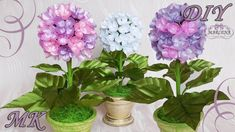 HYDRANGEA FROM THE TAPE. Interior flowers by own hands DIY