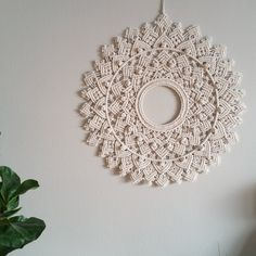 2 Mandalas are available. Price is for one piece. This big circular wall ornament is versatile, it could also be used as a table decor, and… Mandala Art, Mandala Tapestry, Mandala Meditation, Macrame Mirror, Macrame Art, Macrame Projects, Macrame Knots, Macrame Wall Hanging Patterns, Macrame Patterns