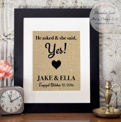 bridal shower gift engagement gift for couple by brandonscottad - Engagement Photo Frames