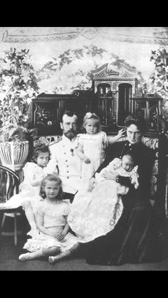 The Romanovs at the Imperial Residence, St. Petersburg, Russia 1901. NAOTMAA…