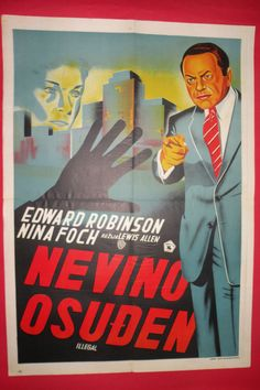 ILLEGAL 1955 EDWARD G.ROBINSON NINA FOCH LEWIS ALLEN MEGA RARE EXYU MOVIE POSTER