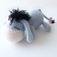 Eeyore . . . . #hækle #hækling #hæklerier #crochet #crochetaddict #crochetlove #yarn #yarnlove #virkat #virka #virkning #hekle #hekling #harken #häkeln #crochettoy #amigurumi #amigurumis #amigurumilove #eeyore #winniethepooh #donkey #blue #crocheteeyore #esel #tussi #æsel Pattern is my own, but not yet written down, I'll let you know when it's done