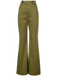Shop online brown Proenza Schouler Twill High Waisted Pants as well as new season, new arrivals daily. New Pant, Pants For Women, Clothes For Women, Retro Outfits, Proenza Schouler, Shorts, Well Dressed, Women's Leggings, Ideias Fashion