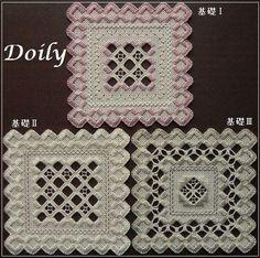 基礎Doily3点セット<ハーダンガー刺繍>キット画像1