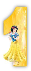 Alfabetos Lindos: Alfabeto Princesa Branca de Neve amarelo com numerais