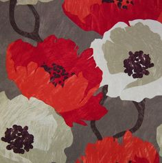 Pomegranate Large Floral print - stunning colors!