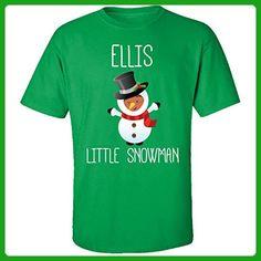 Ellis Little Snowman Christmas - Adult Shirt Xl Irish-green - Holiday and seasonal shirts (*Amazon Partner-Link)
