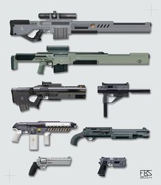 weapon design, Francisco Sequeira on ArtStation at https://www.artstation.com/artwork/weapon-design-a9d0eba6-1f38-4cae-b749-09ad6f99aa24