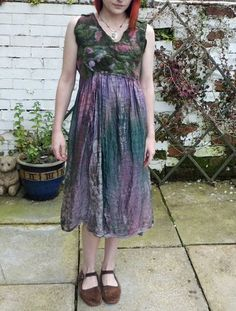 Nuno Felted Garden Fae Wrap Dress Tie Dyed by Feltory on Etsy, £70.00