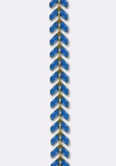 Chaine épis émaillée 6.3mm dark blue x10 cm - Chaînes - Accessoires | MatièrePremière