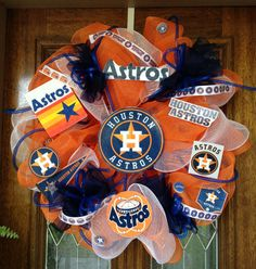 Houston Astros Deco Mesh Wreath  by SissyGirlsCreations on Etsy