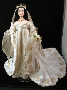 Tonner Layne Reese wears Franklin Mint Guinevere Ethereal Bride by Loves Dolls, via Flickr
