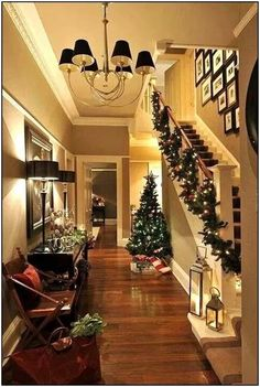 SEASONAL – CHRISTMAS – the magic of the holiday makes another appearance in an adorable presentation of holiday decor and a stunning christmas hallway. Christmas Hallway, Noel Christmas, All Things Christmas, Winter Christmas, Country Christmas, Apartment Christmas, Christmas Design, Xmas Decorations, Decoration Christmas