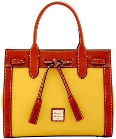 A yellow Pebble Grain Ariel Satchel Bag to your daily use.
