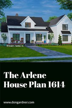 The Arlene house plan 1614 is now in progress! 2375 sq ft | 4 Beds | 2.5 Baths This modern farmhouse design features a dramatic center dormer over a sprawling front porch. The open floor plan promotes family togetherness, and a large rear porch extends living outdoors. A large pantry adjoins the island kitchen, and a mudroom offers a convenient location to drop coats, bags, and shoes. #wedesigndreams #modernfarmhouse Modern Farmhouse Design, Island Kitchen, Conceptual Design, Open Floor, Mudroom, All Design, Front Porch, Baths, Pantry