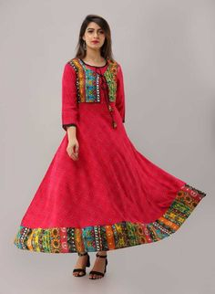 Product Description:-  Item Contain - 1 Pc Kurti ( Kurti Only )  Material : 100% Rayon  Length : Long  Size : All Size Available( M,L,XL, XXL)  Pattern : Embroidered Work  Sleeves : Sleeve  Color : Pink ( Show In Image )  Work : Beautiful Embroidered work  Model Height : 5.8''  Length : 48-50 Inches  Fit Type : Regular Fit  Color Declaration:-  There Might Be Slight Variation In The Actual Color Of The Product Due To Different Screen Resolutions Pola Lengan, Ethnic Gown, Bohemian Print, Girls Wear, Black Print, Printed Cotton, Bollywood, Bell Sleeve Top, Plus Size