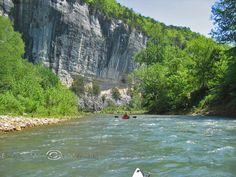 White Buffalo River near Mountain Home, Ar.. Where the rivers join, beautiful!